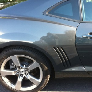 Purchase our 2010-2012 Camaro vent insert decals to make the rear vents on your Camaro look functional.