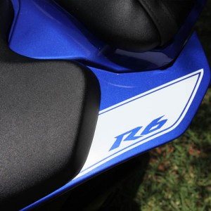 Add a rear stripe to your 2008, 2009, 2010, 2011, or 2012 Yamaha R6. Customize the text or choose a different logo. Custom Yamaha R6 decal created by BullsEye Vinyl.