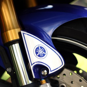 Vinyl Decals for the side fender of your 2006, 2007, 2008, 2009, 2010, 2011, or 2012 Yamaha R6. This decals really stands out and looks great! Custom Yamaha R6 decal created by BullsEye Vinyl.