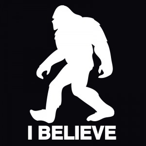 Bigfoot or Sasquatch I Believe decal. This vinyl decal will look great on the back of your car or truck.